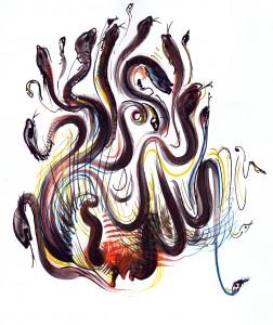 Gorgonele - ilustratie de George Romila