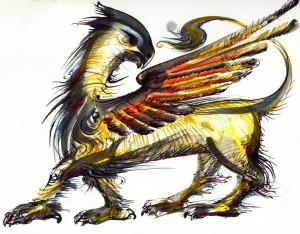 Lucian-Strochi-Grifonul-ilustratie-de-George-Romila