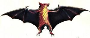 Liliacul - ilustratie de George Romila