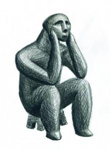 Omul - ilustratie de George Romila