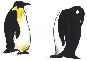 Pinguinul - ilustratie de George Romila