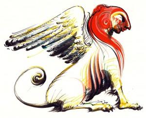 Sfinxul - ilustratie de George Romila